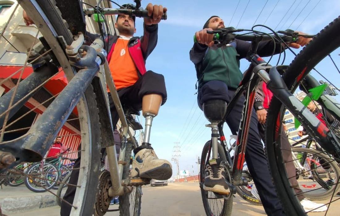 ركوب الدراجات الهوائية من مبتوري الاطراف