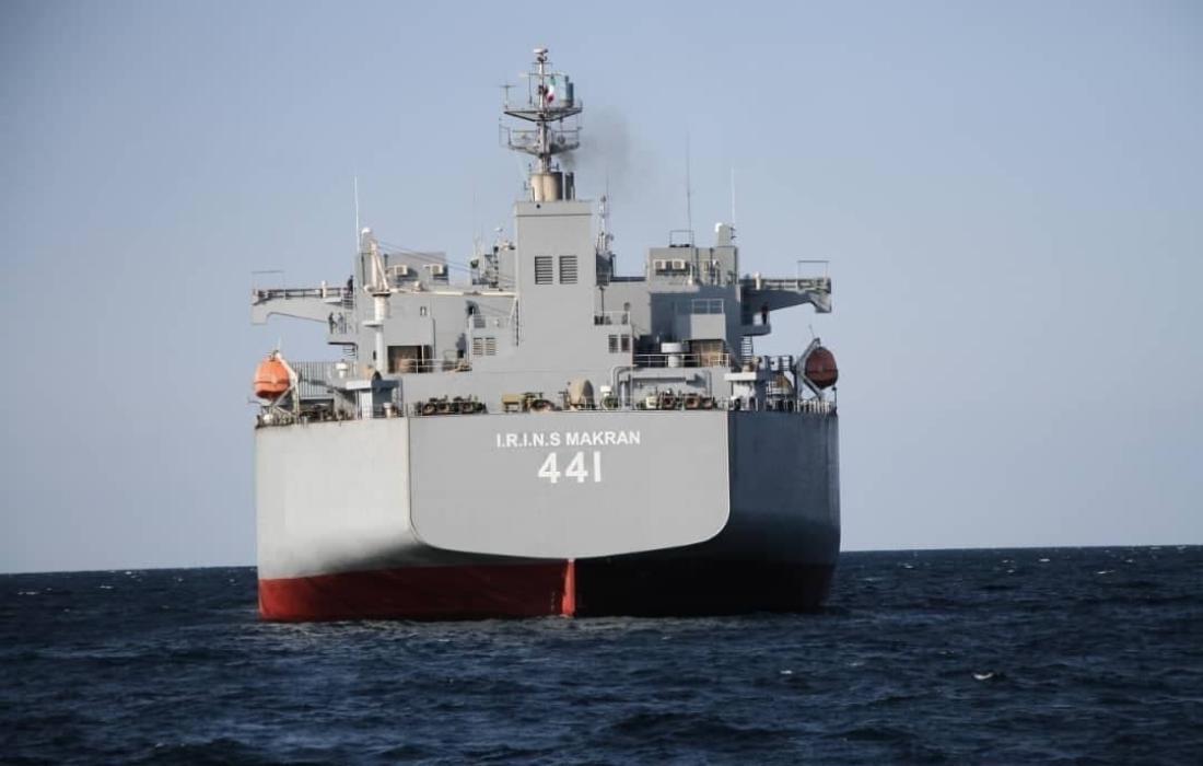 ايران تسدل الستار عن أضخم وأهم السفن الحربية الجديدة.jpg