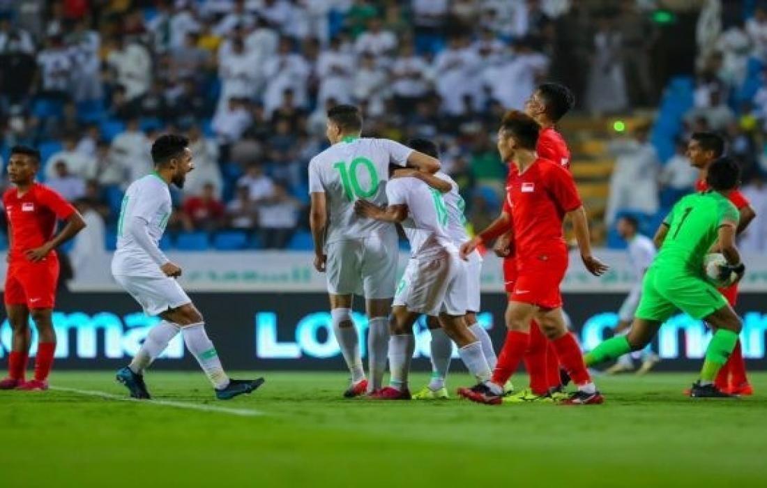 مباراة السعودية و فلسطين