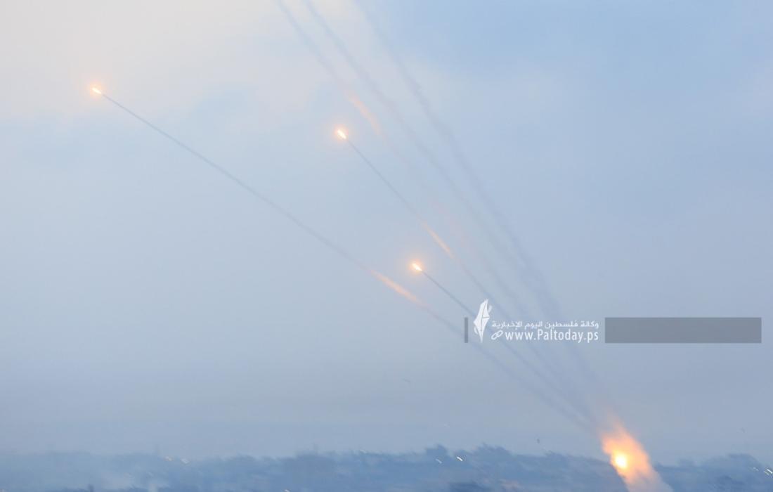 رشقات صواريخ اتجاه مدينة عسقلان (1).JPG