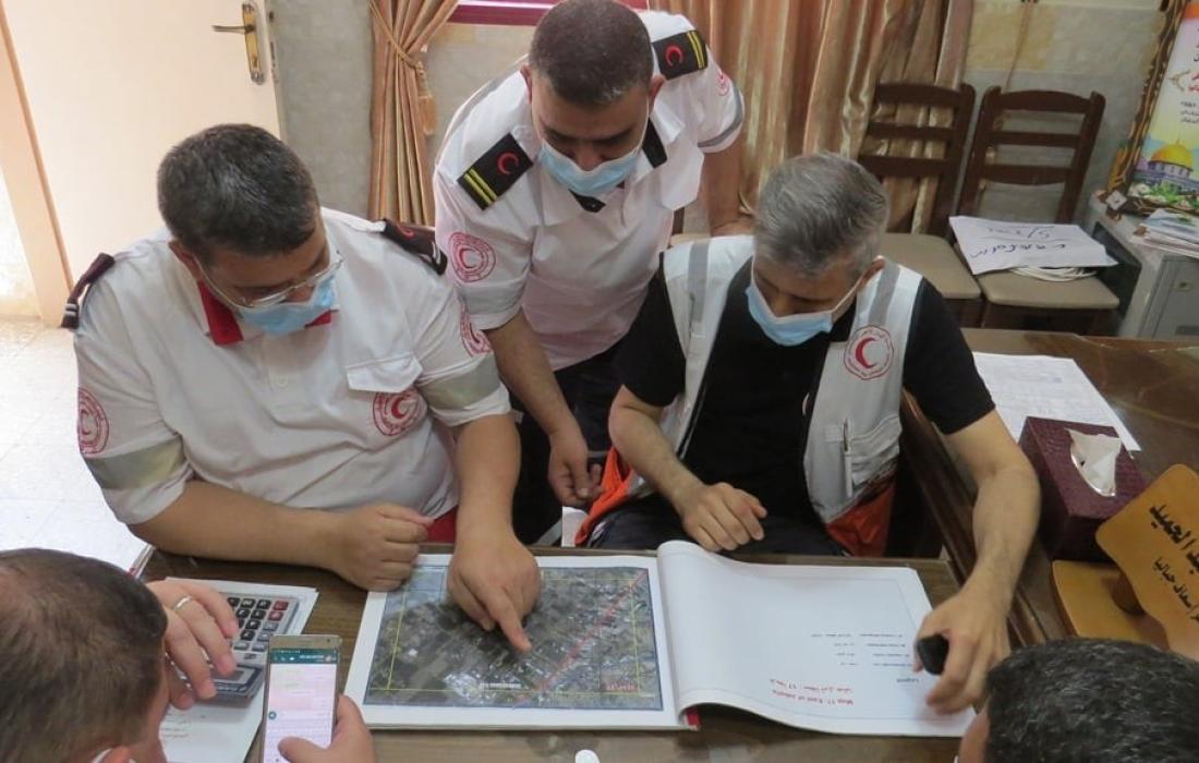الهلال الأحمر الفلسطيني يرفع درجة الجهوزية للدرجة الرابعة