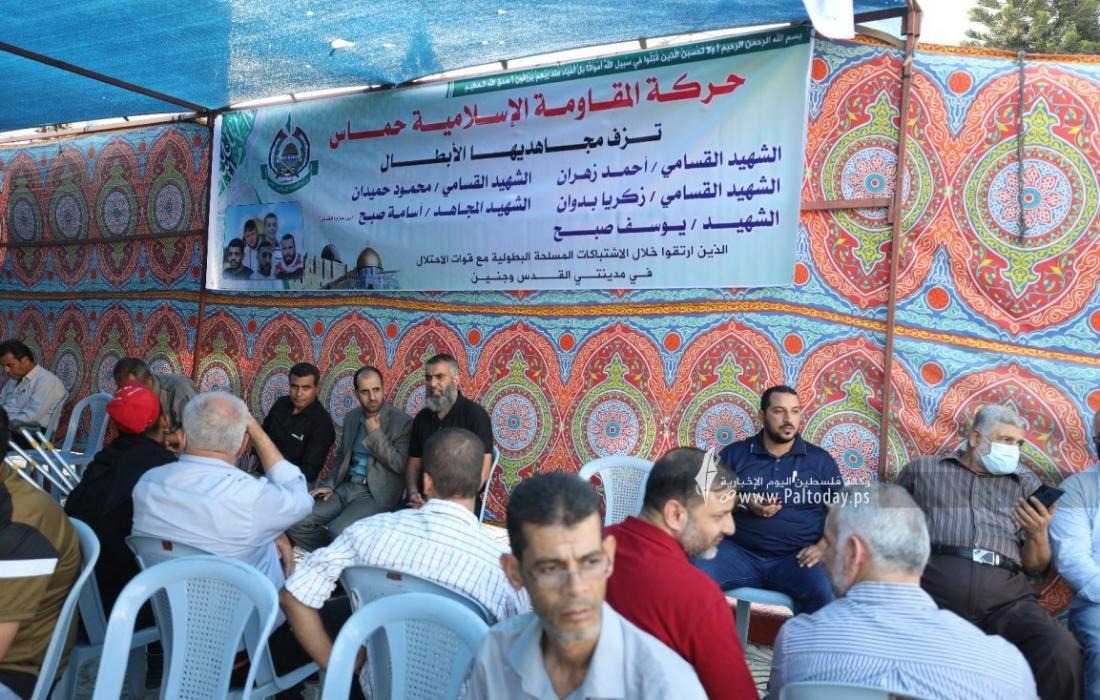 بيت عزاء لشهداء القدس وجنين في مدينة غزة (1).jpeg