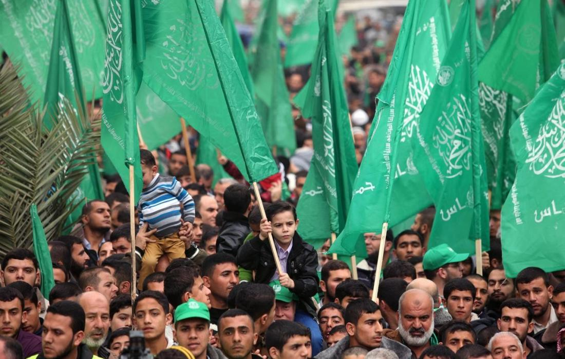 مسيرة حماس في غزة