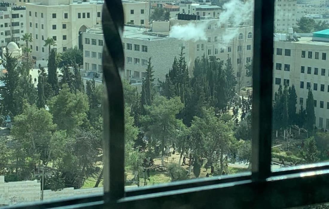 انفجار في جامعة الخليل