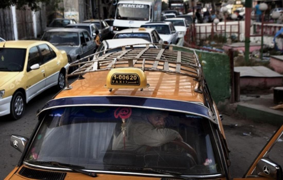 سيارات الاجرة في غزة