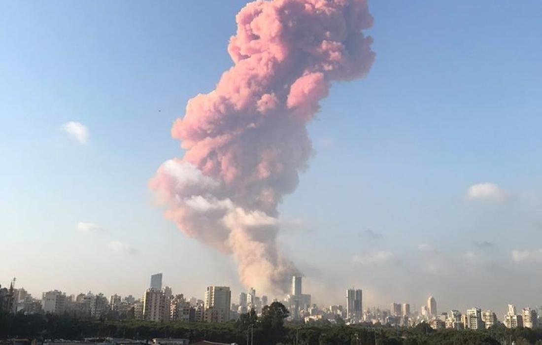 مرفأ بيروت جراء الانفجار الضخـم (9)