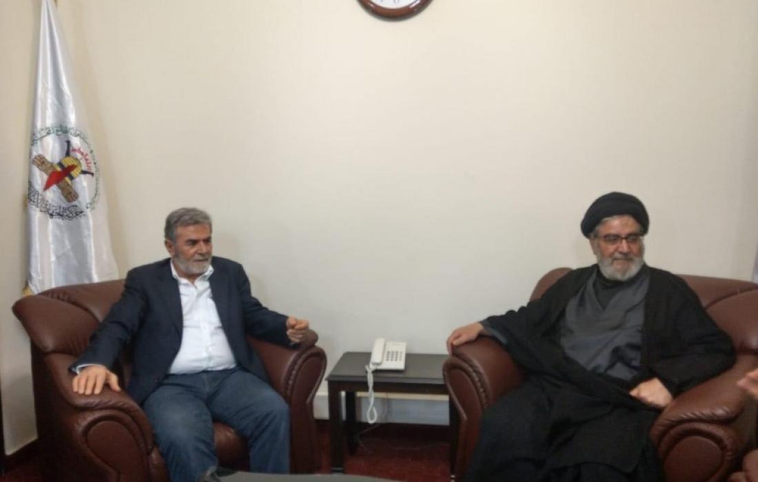 النخالة يستقبل وفد من حزب الله1