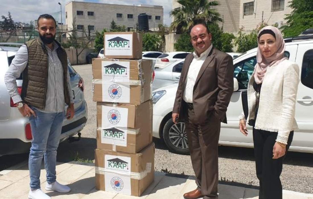 مستلزمات طبيّة من الوكالة الكورية للتعاون الدولي ورابطة خريجين كويكا في فلسطين