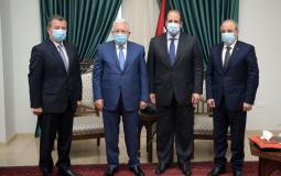 عباس يطلع وفدين من المخابرات المصرية والاردنية تطورات القضية الفلسطينية وملف المصالحة