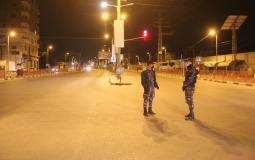 الاغلاق الليلي الكلي في قطاع غزة