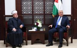 مفتي القدس يهاتف عباس ويهنأه بحول رمضان