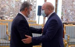 رئيس البرلمان الإيراني يستقبل وفد حركة الجهاد الإسلامي برئاسة القائد النخالة
