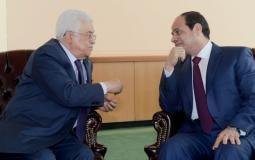 الرئيس المصري عبد الفتاح السيسي والرئيس الفلسطيني محمود عباس