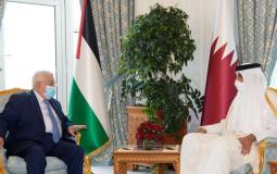 أمير قطر وعباس