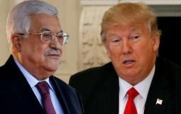 الرئيس الامريكي دونالد ترامب والرئيس الفلسطيني محمود عباس