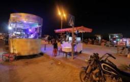 أكشاك قبالة بحر غزة (ارشيف)