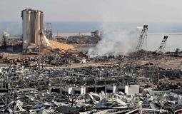 مرفأ #بيروت جراء الانفجار الضخـم (6)