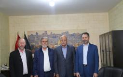 النخالة يستقبل الأمين العام للمؤتمر العام للأحزاب العربية