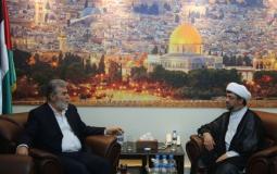 القائد النخالة يستقبل جمعية الوفاق البحرينية في بيروت