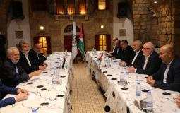 هنية يلتقي النخالة في بيروت قُبيل اجتماع الامناء العامين للفصائل