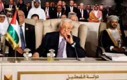 رئيس السلطة محمود عباس في القمة العربية المقامة في تونس