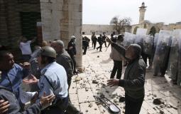قوات الاحتلال في المسجد الاقصى
