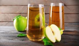 عصير التفاح.