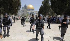 الاحتلال يعتقل فتاة فلسطينية بعد اقتحام الأقصى