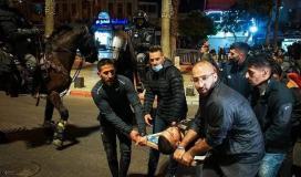 إصابة 20 مواطنًا بينهم مسعف في مواجهات اندلعت مع قوات الاحتلال في البلدة القديمة للقدس المحتلة