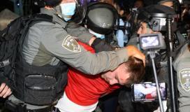 قوات الاحتلال تعتقل فتاة وشاب في حي الشيخ جراح بالقدس قبل قليل.jpg
