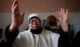 في وداع شهيدة طفلة شمال قطاع غزة.jpg