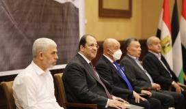 القائد يحيى السنوار ووزير المخابرات المصرية