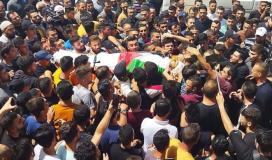 جماهير تشيّع الشهيد الفتى أحمد شمسة ارتقى برصاص الاحتلال في نابلس
