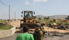 الاحتلال يستولي على جرافة في دوما جنوب نابلس