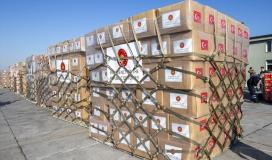 مساعدات تركية الى غزة.