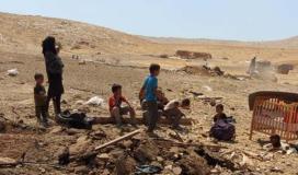 قوات الاحتلال تهدم قرية حمصة في الاغوار شرق الضفة المحتلة