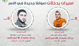 اسيران يدخلان اعوامًا جديدة في سجون الاحتلال.jpeg