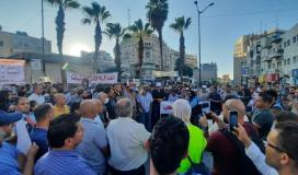 تظاهرة وسط رام الله للمطالبة بمحاسبة قتلة نزار بنات