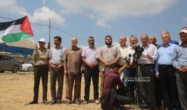 مؤتمر القوى والفصائل الفلسطينية أقيم شرق ملكة بغزة تعقيباً على العدوان الإسرائيلي على قطاع غزة (9).JPG