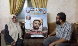 عدنان يؤم ذوي بطلي عملية انتزاع الحرية محمود ومحمد العارضة