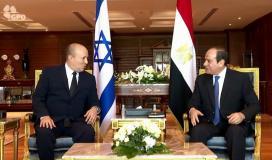 السيسي ورئيس حكومة الاحتلال نفتالي بينيت