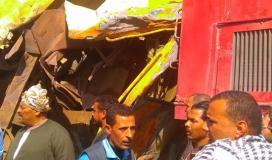قطارين في حادث تصادم