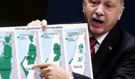 اردوغان يعرض خارطة فلسطين في الأمم المتحدة