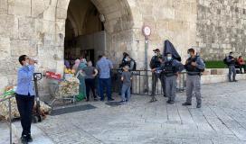 قوات الاحتلال تعتقل 8 شبان من داخل المسجد الاقصى
