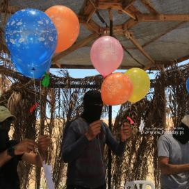 وحدة برق الجهادية تطلق مئات البالونات نحو المستوطنات وتؤكد القدس خط أحمر