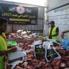 """بالصور :""""الجهاد الاسلامي"""" تنفذ مشروع الاضاحي لعام ٢٠٢١"""