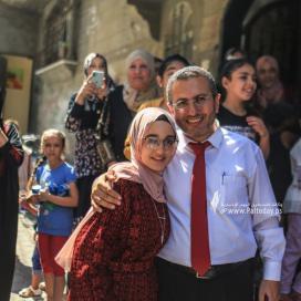 وكالة فلسطين اليوم فى ضيافة الأولى على مستوى الوطن الطالبة لمى زقوت من مدينة خانيونس