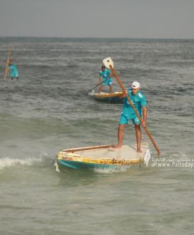 بالصور:بطولة التجديف الأولى للاتحاد الفلسطيني للشراع والتجديف على شاطئ بحر غزة
